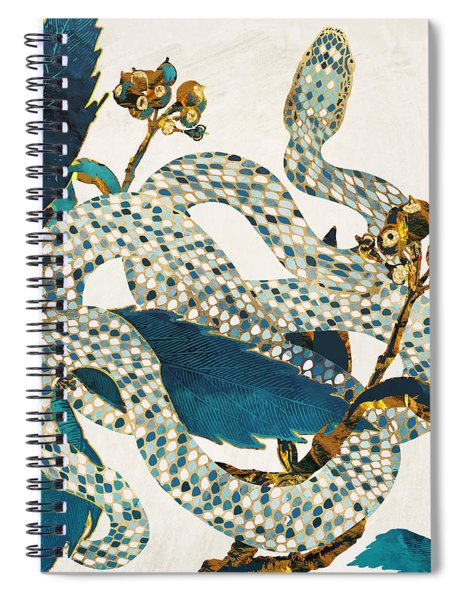 Summer Indigo Garden Spiral Notebook