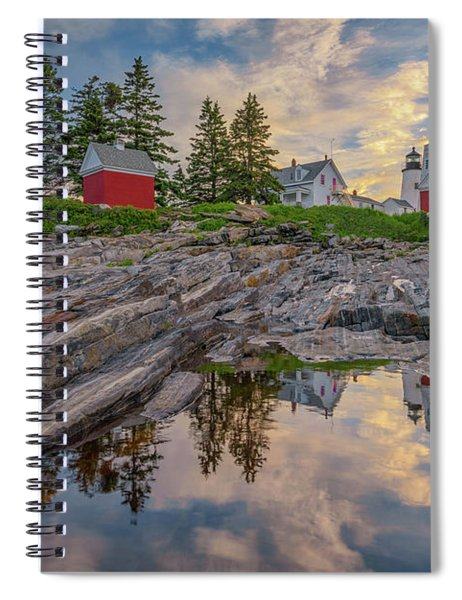 Summer Morning At Pemaquid Point Lighthouse Spiral Notebook
