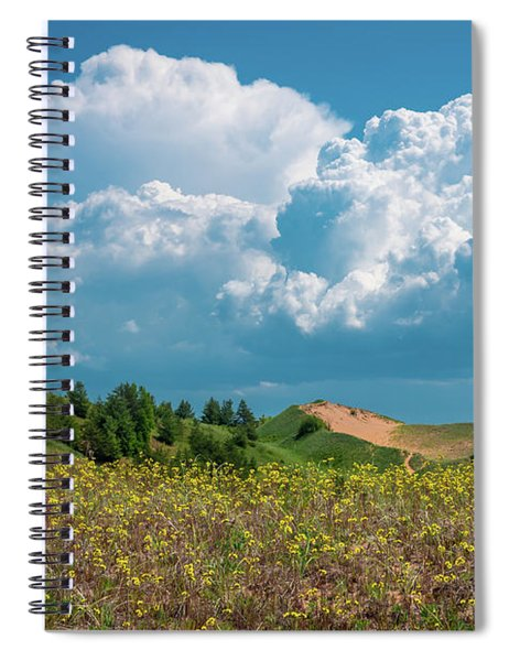 Summer Storm Over The Dunes Spiral Notebook