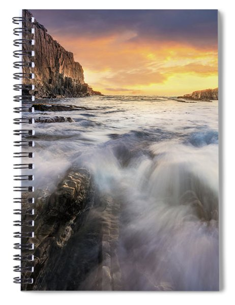 Summer Sunrise At Bald Head Cliff Spiral Notebook