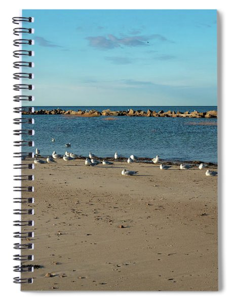 Sun Bathers At Corporation Beach Cape Cod Spiral Notebook