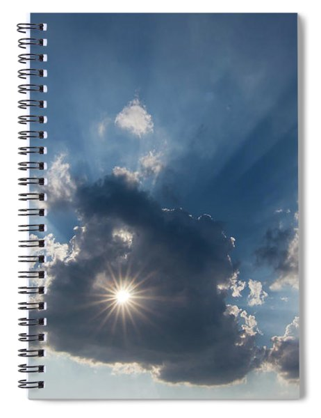 Sun Behind The Cloud With A Hole Spiral Notebook