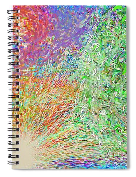 Sun Circles Earth Spiral Notebook
