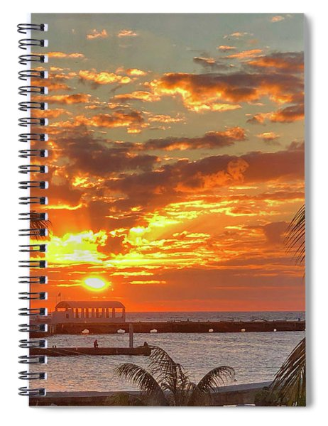Sun Is Setting Spiral Notebook