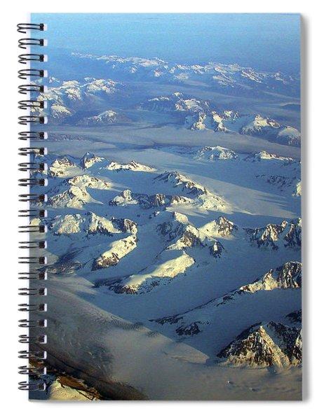 Sun Kissed Glaciers Spiral Notebook
