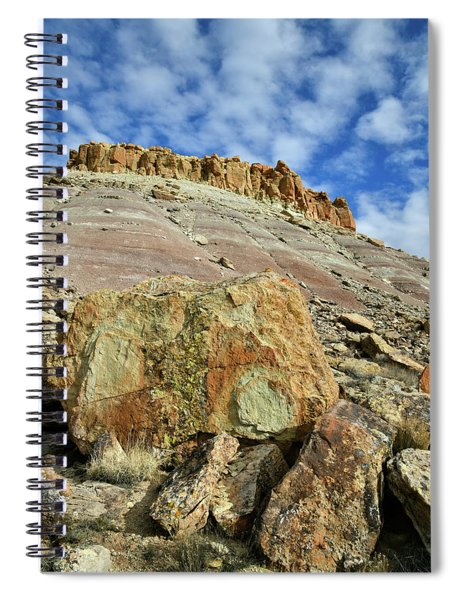 Sun Lights Red Point And Boulders Spiral Notebook
