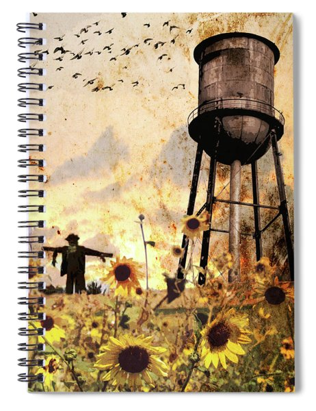 Sunflowers At Dusk Spiral Notebook