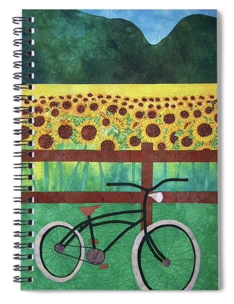 Sunflowers At Whitehall Farm Spiral Notebook