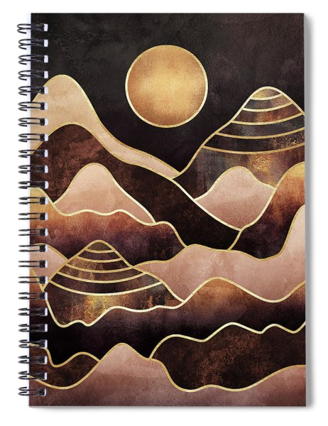 Sunkissed Mountains Spiral Notebook