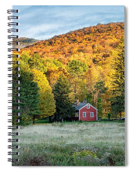 Spiral Notebook featuring the photograph Sunlit Mountain by Rod Best