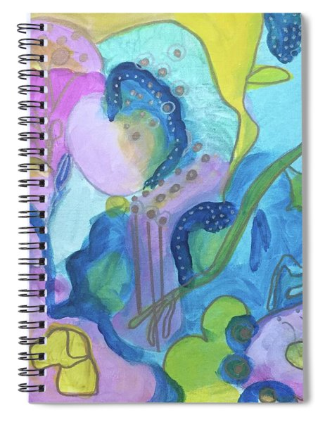 Sunny Day Abstract Spiral Notebook