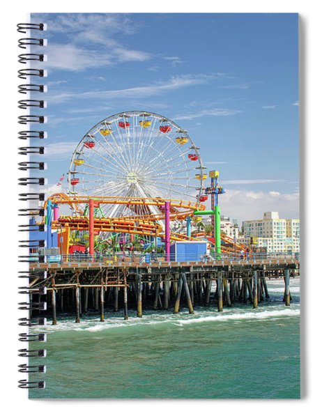 Sunny Day On The Santa Monica Pier Spiral Notebook