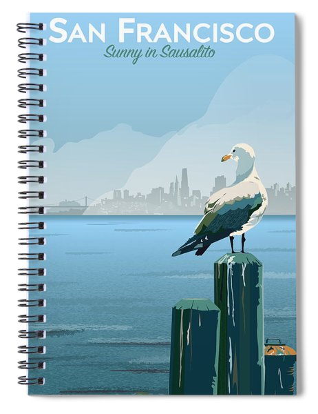 Sunny In Sausalito Spiral Notebook