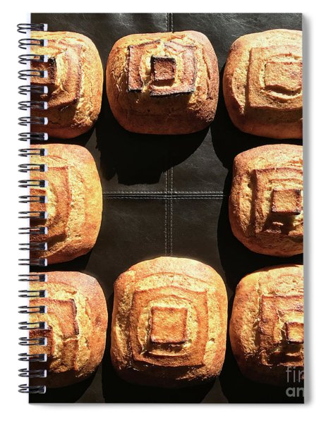 Sunny Sourdough Squares Spiral Notebook