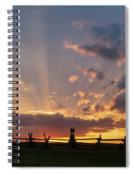 Sunrays At Sunset Spiral Notebook