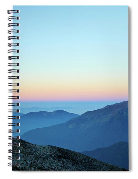 Sunrise Above Mountain In Valley Himalayas Mountains Mardi Himal Spiral Notebook