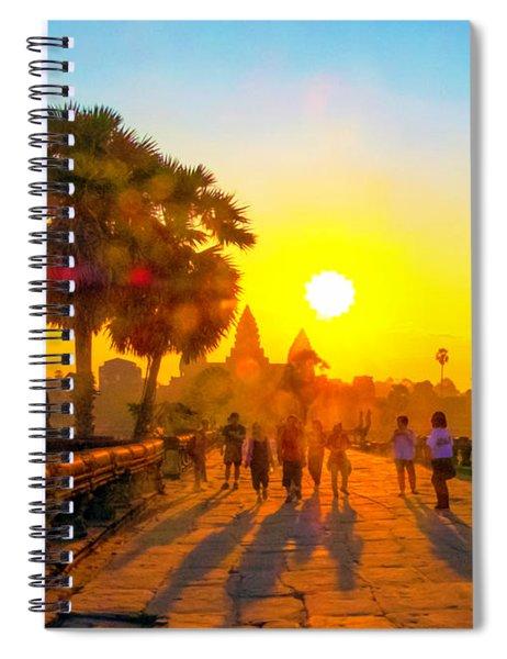 Sunrise At Angkor Wat, Cambodia Spiral Notebook