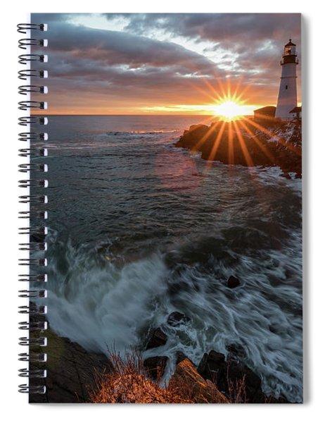 Sunrise At Portland Head Light Spiral Notebook