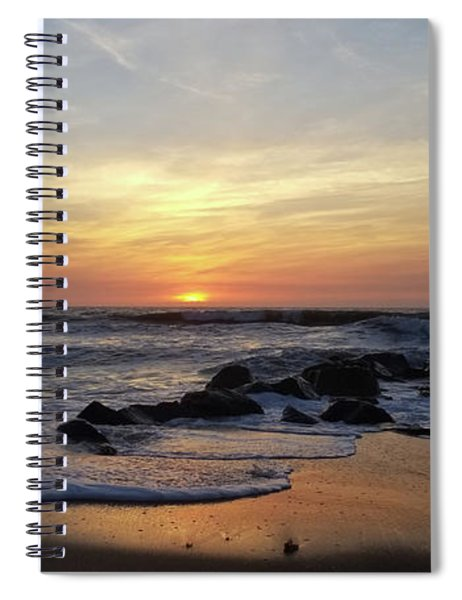 Sunrise At The 15th St Jetty Spiral Notebook