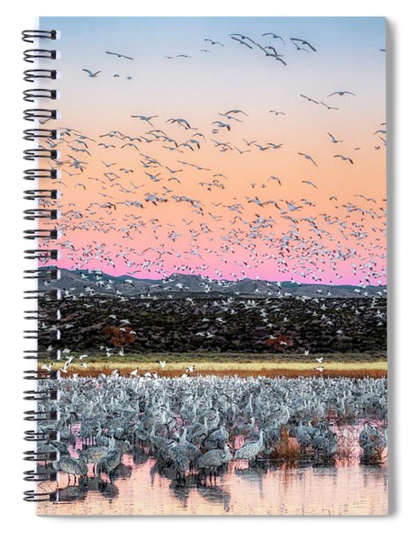 Sunrise At The Crane Pool Spiral Notebook
