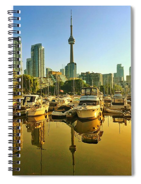 Sunrise At The Harbour Spiral Notebook