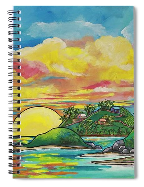 Sunrise At The Islands Spiral Notebook