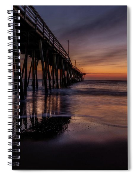 Sunrise At The Pier Spiral Notebook