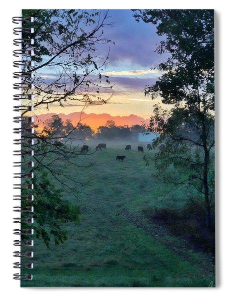 Spiral Notebook featuring the photograph Sunrise Breakfast by Andrea Platt