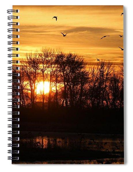 Sunrise Flight Spiral Notebook