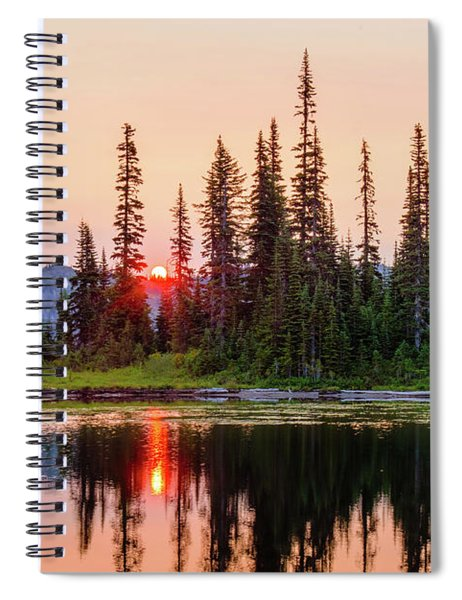 Sunrise From The Reflection Lake Spiral Notebook