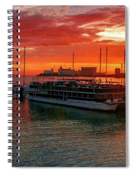 Sunrise In Cancun Spiral Notebook