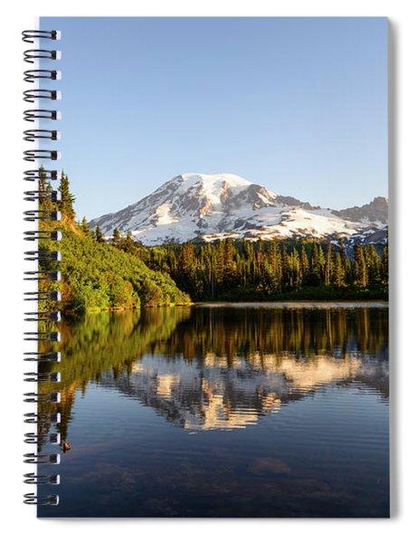 Sunrise In Mt Rainier  Spiral Notebook