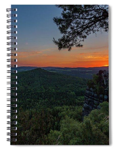 Sunrise In Saxon Switzerland Spiral Notebook