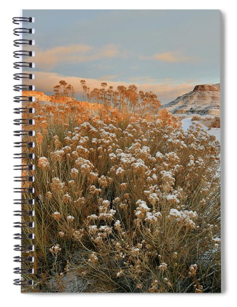 Sunrise On Colorado National Monument And Ruby Mountain Spiral Notebook