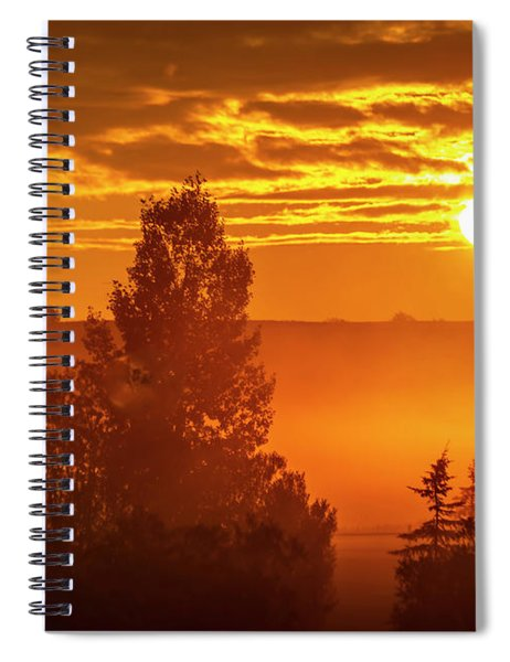 Sunrise On The Canadian Prairies Spiral Notebook