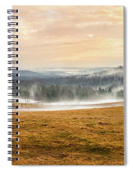 Sunrise On The Farm Spiral Notebook