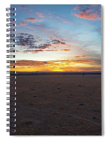 Sunrise Over The Mara Spiral Notebook