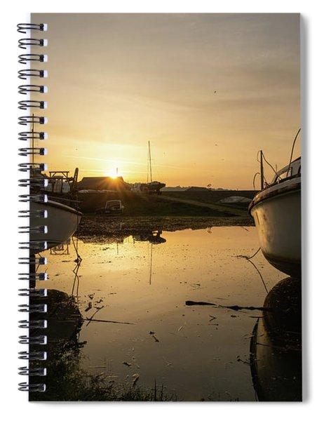 Sunrise Over Aberystwyht Harbour Spiral Notebook