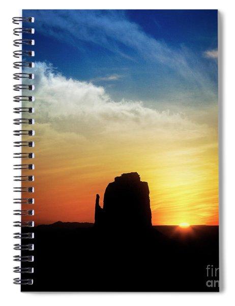 Sunrise Over Mitten Spiral Notebook by Scott Kemper