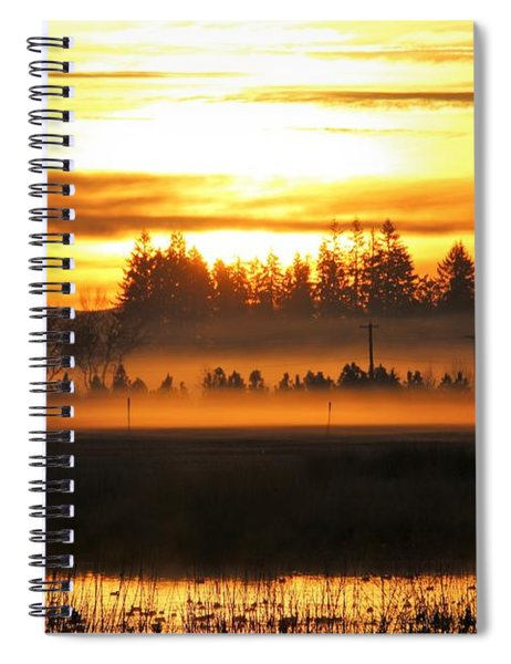 Sunrise Over The Wetlands Spiral Notebook