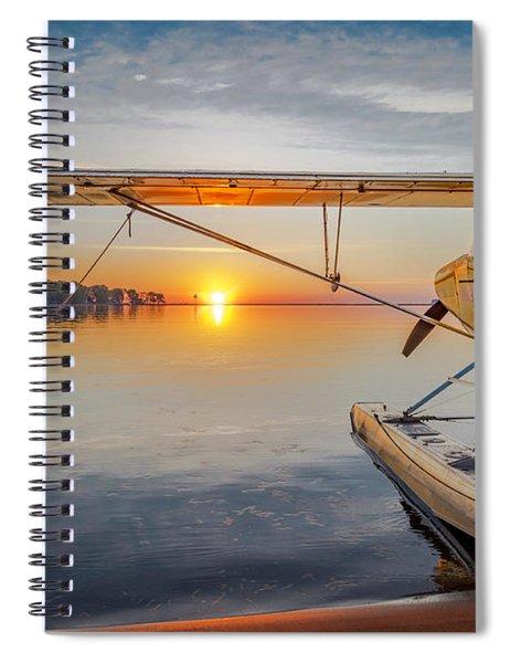 Sunrise Seaplane Spiral Notebook