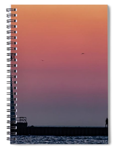 Spiral Notebook featuring the photograph Sunrise Stroll by Rod Best