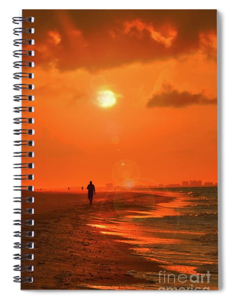 Sunrise Walk On Sanibel Island Spiral Notebook