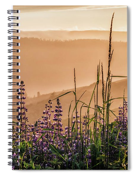 Sunset Among The Lupine Spiral Notebook