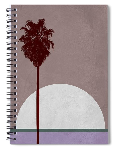 Sunset And Beach Palm Tree  Spiral Notebook