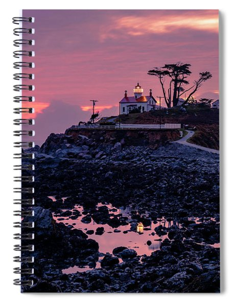 Sunset And Low Tide At Battery Point Spiral Notebook