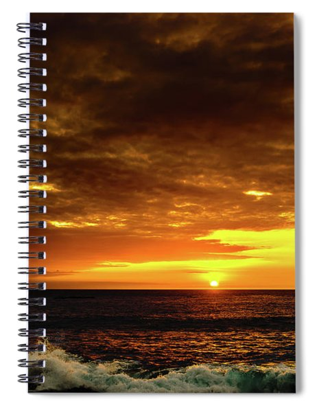 Sunset And Surf Spiral Notebook