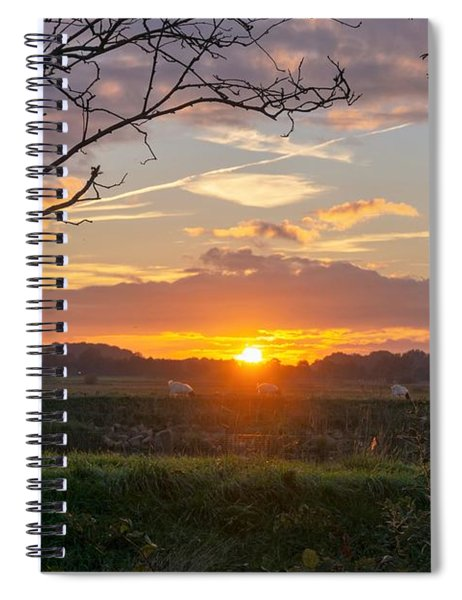 Spiral Notebook featuring the photograph Sunset by Anjo Ten Kate
