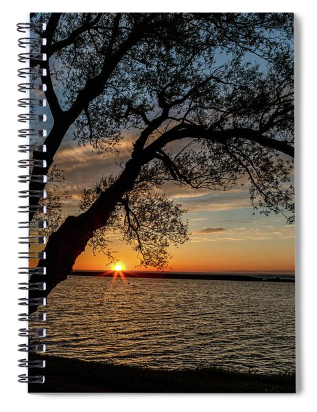 Spiral Notebook featuring the photograph Sunset At Breitbeck Park by Rod Best