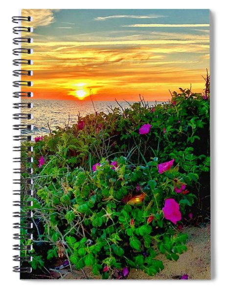 Sunset At Campground Beach  Spiral Notebook